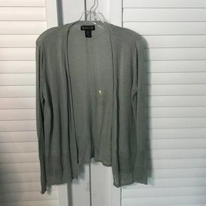 Nanette Lepore green linen cardigan sweater, M